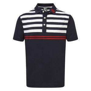 Footjoy pique stripe polo