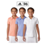 Adidas-girls-short-sleeve-solid-polo